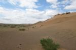 Mongolei: Die ersten Dünen der Gobi