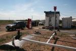 Mongolei: Tankstelle in Bulgan