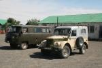 Mongolei: Bulgan - Parkplatz vor dem Einkaufszentrum