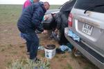 Mongolei: Panne im Regen