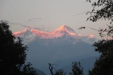 Nepal - Annapurna-Massiv im Abendrot