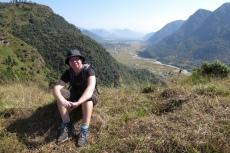 Nepal - Kurze Rast mit Blick Richtung Pokhara