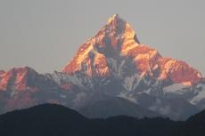 Nepal - Machapuchare (6997m) im Sonnenuntergang