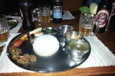 Nepal - Abendessen im Thakali-Restaurant