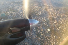 Nepal - Anflug auf Kathmandu