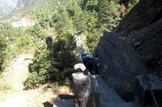 Nepal - Hängebrücke zwischen Lukla und Phakding