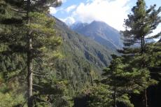 Nepal - Blick zurück in Richtung Phakding