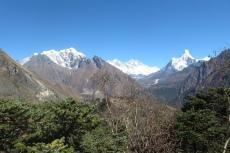 Nepal - Blick von der Terrasse des Everest View Hotels