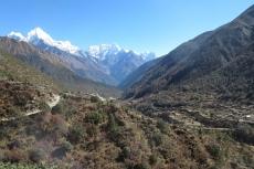 Nepal - Blick zurück Richtung Namche Bazar
