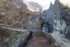 Nepal - Brücke über den Bhote Koshi