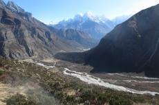 Nepal - Blick zurück auf Thame