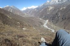 Nepal - Rast mit Blick auf den Cho Oyu (8201m)