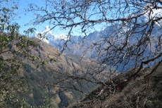 Nepal - Blick hinüber nach Namche Bazar