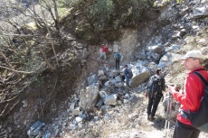 Nepal - Erdrutsch in Folge der Erdbeben 2015