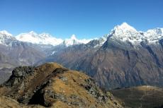 Nepal - Blick vom Sherpa-Peak auf Everest und Lhotse