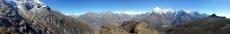 Nepal - Panorama von Gipfel des Sherpa-Peak (4578m)