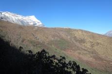 Nepal - Blick zurück aufs Kongde Hotel