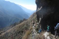 Nepal - Auf dem Abstieg von Kongde nach Phakding