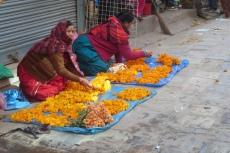 Nepal - Blumenverkäuferinnen