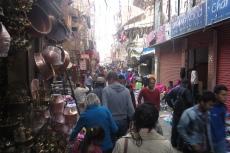 Nepal - Einkaufsstraße in Kathmandu