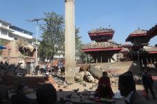 Nepal - Erdbebenschäden am alten Königspalast in Kathmandu