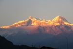 Nepal - Annapurna-Massiv im Sonnenuntergang