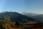 Nepal - Panoramablick von der Hananoie-Lodge