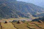 Nepal - Abgeerntete Reis- und Hirsefelder