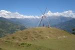 Nepal - Bambusschaukel mit Aussicht