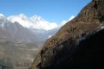 Nepal - Rechts oben ist der Weg nach Kongde
