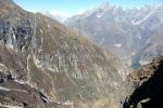 Nepal - Dort sind wir gestern hochgekommen