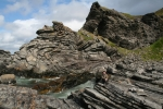 Nordkap, Hurtigruten und Lofoten: esteinsschichten bei Kirkeporten