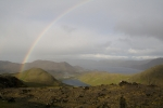 Nordkap, Hurtigruten und Lofoten: Regenbogen über der Nordkapinsel
