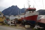 Nordkap, Hurtigruten und Lofoten: Fischerboote bei Sund