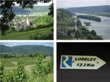Rheinsteig #4 - Schloss Arenfels, Blick vom Rheinbrohler Ley und Weinberge bei Hubertusburg