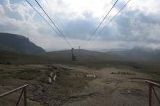 Karpaten - Bergstation der Seilbahn