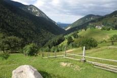 Karpaten - Blick von der Pension in Magura