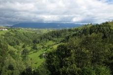 Karpaten - Magura, Balkonblick auf das Bucegi-Gebirge