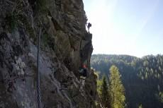 Steil bergan im Stuibenfall-Klettersteig