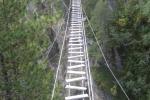 Fantastische Brücke auf dem Zirbenwald-Klettersteig