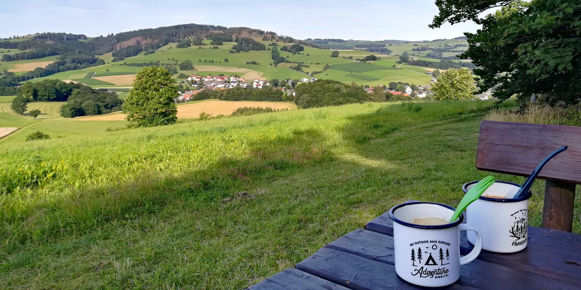 Uplandsteig – Trekkingabenteuer im Sauerland Tag #2 - Start in den Tag