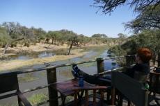 Botswana - Die Terrasse der Mogotlho-Lodge