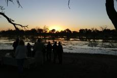 Botswana - Sonnenuntergang am Khwai