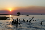 Botswana - Sonnenuntergang am Chobe-Fluss