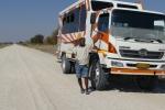 Namibia - Brian mit 'seinem' Safari-Truck