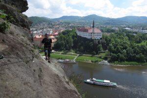 Elbsandsteingebirge – Klettersteig in Děčín